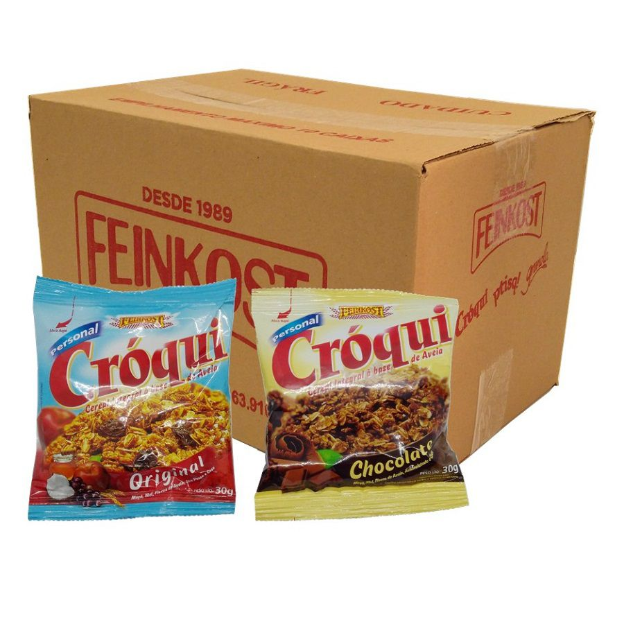Granola Croqui Original e Chocolate Caixa Mista 50 saches
