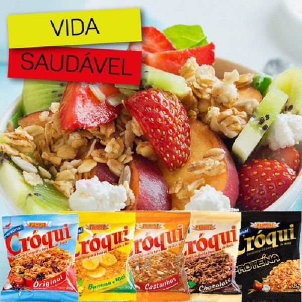 Granola Croqui Original e Proteina Caixa Mista 50 saches