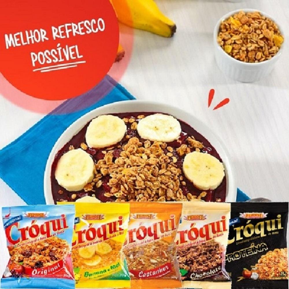 Granola Croqui Personal Banana e Mel 30g 04 Caixas 50 Saches