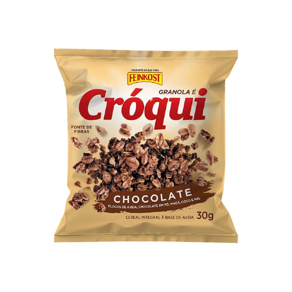 Granola Croqui Personal Chocolate 30g Caixa 50 Saches