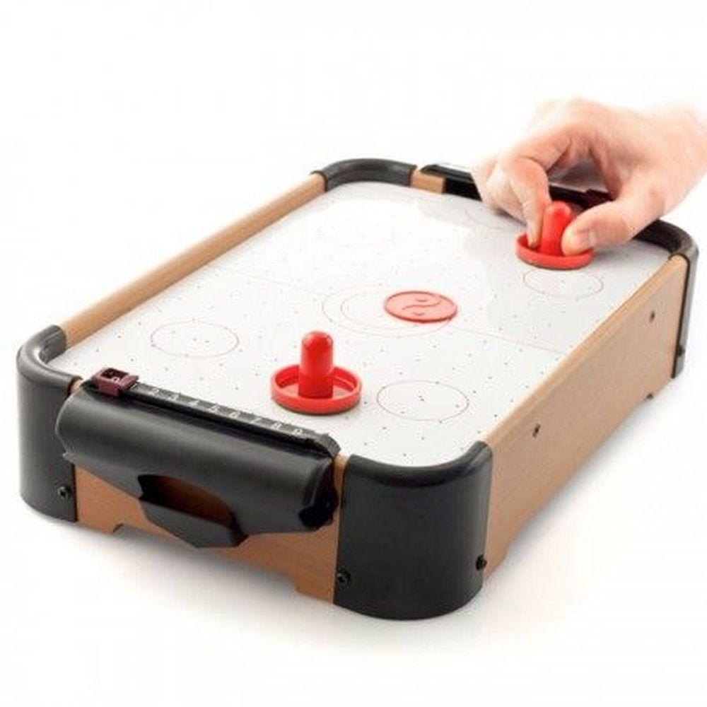 Jogo Aero Game Air Hockey Mini Mesa 51x31x10cm com Pilhas