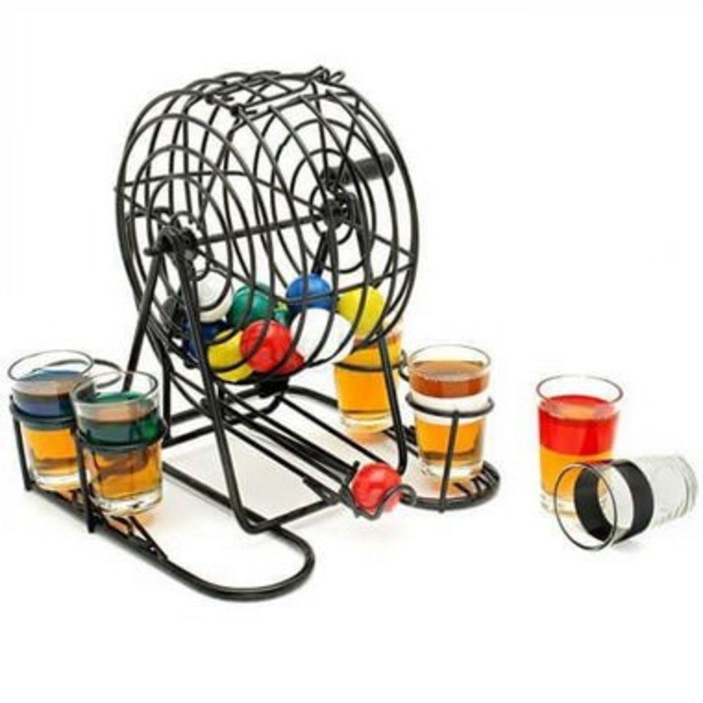 Jogo de Bingo Drink 06 Copos Shot 20x19x20cm Presentes