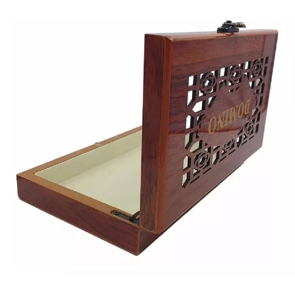 Jogo de Domino Profissional 28 peças Caixa Luxo de Madeira