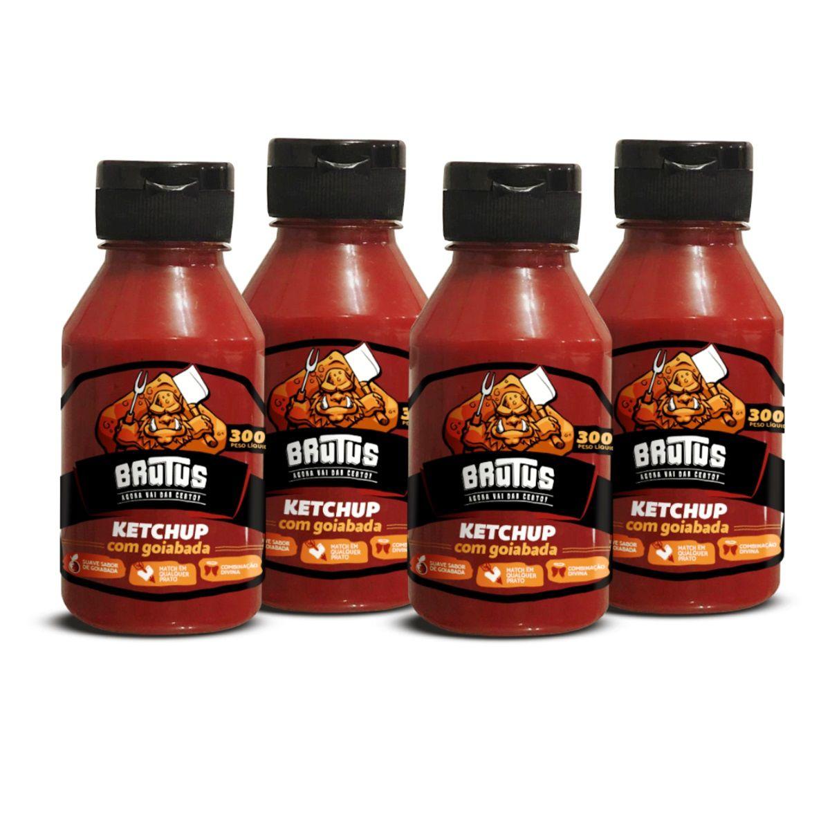 Ketchup com Goiabada Molho Brutus 300g 04 frascos