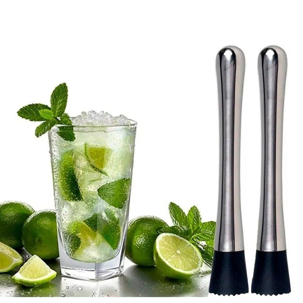 Kit 02 Socador Macerador Inox Drinks Caipirinha Bartender