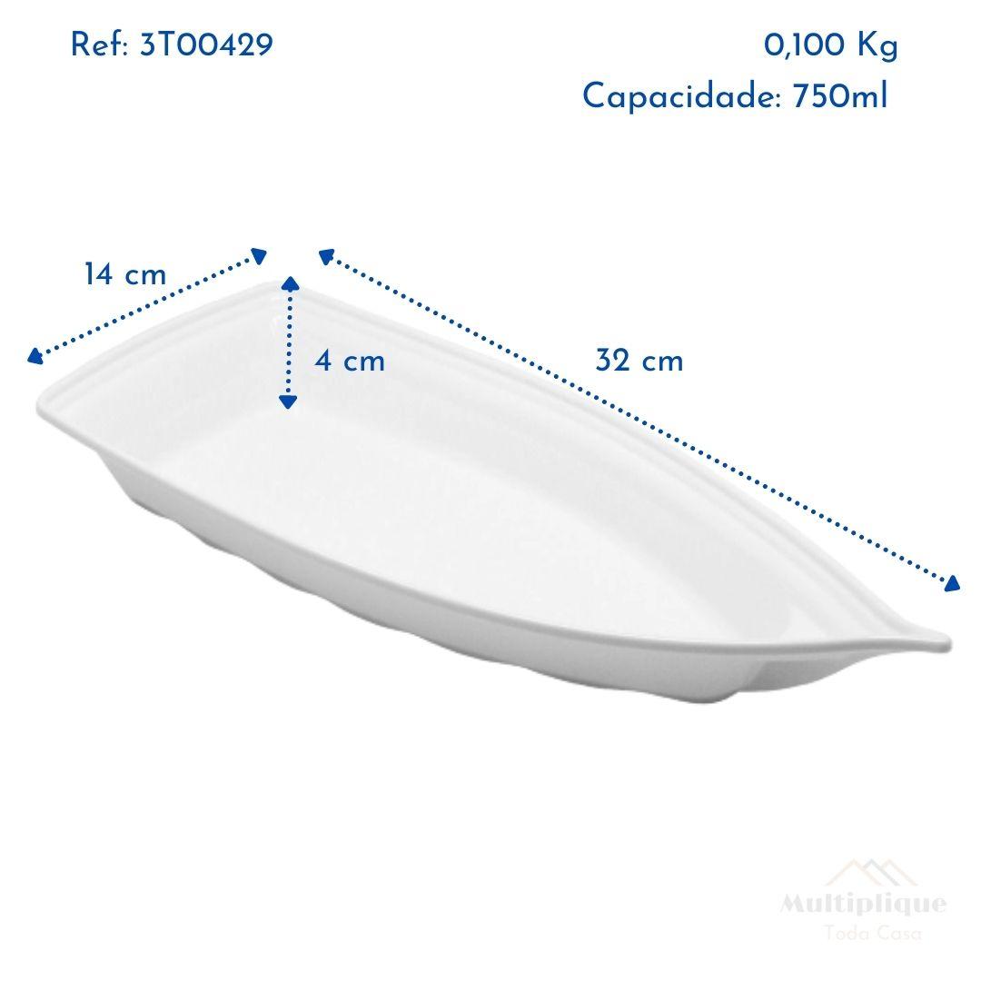 Kit 06 Barca Barco para Açaí Sushi Sashimi Bandeja 32 Branco