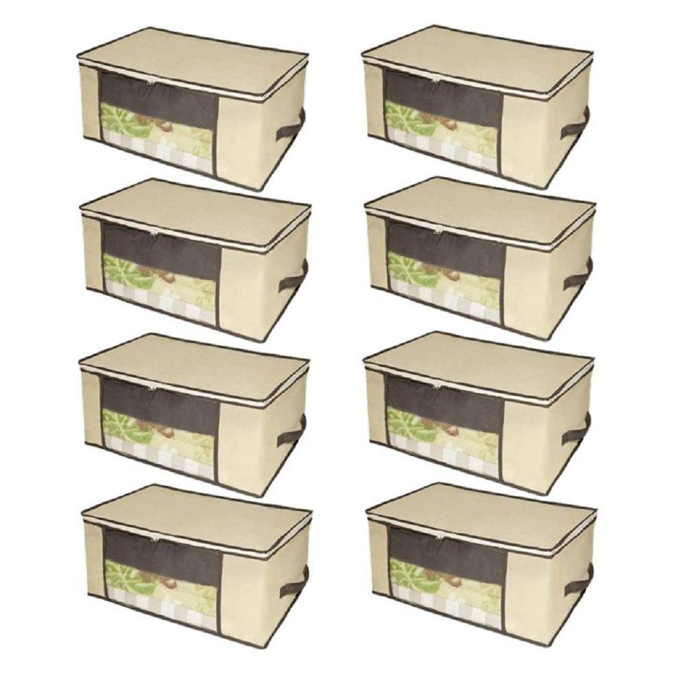 Kit 08 Caixa Organizadora em TNT com Visor 45 x 45 x 20cm