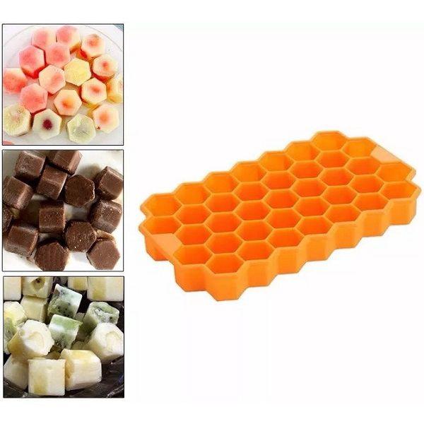 Formas Silicone Colmeia para Gelo Chocolate 08 unidades