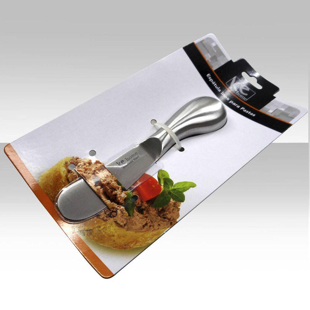 Kit 6 Espatula de Aço Inox para Pasta Manteiga Creme 13,5cm