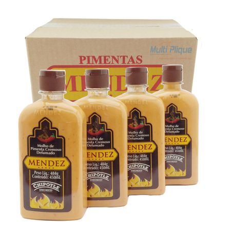 Kit Molho Pimenta Mendez 450ml 04 Cremosa Defumada Chipotle