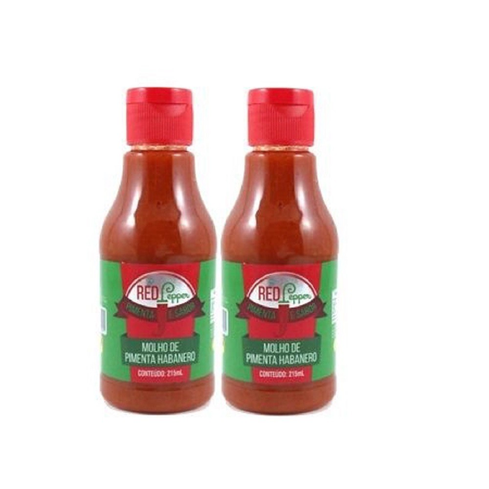 Kit Molho de Pimenta Mendez 215ml 02 Red Pepper Habanero