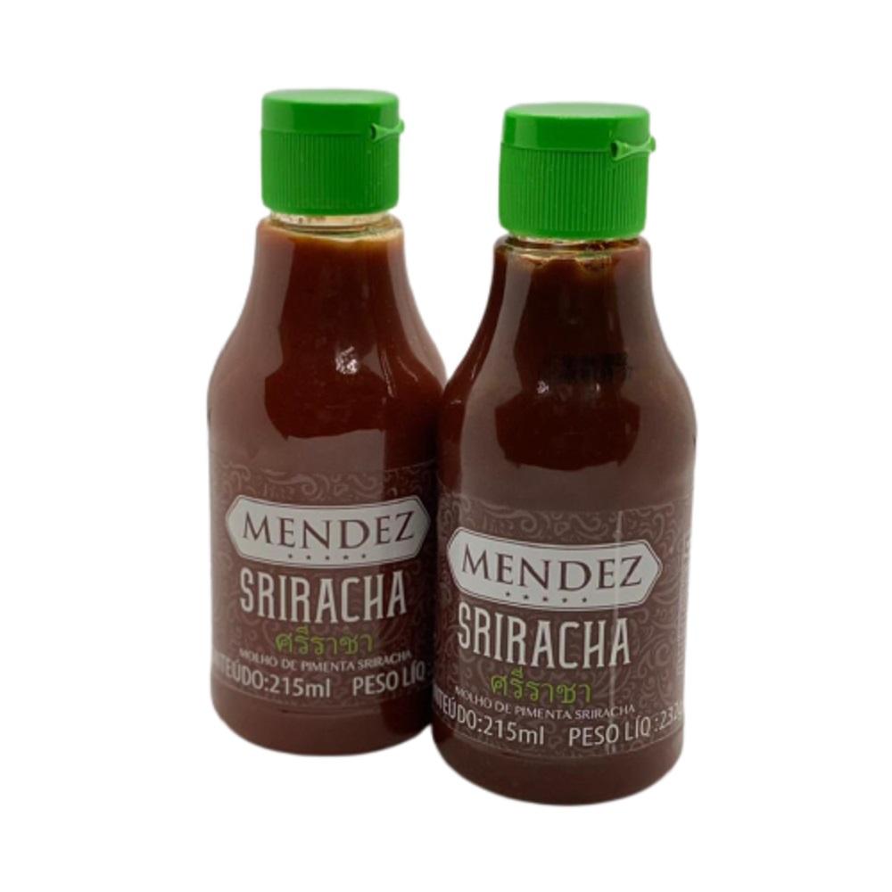 Kit Molho de Pimenta Mendez 215ml 02 Sriracha Sabor Oriental