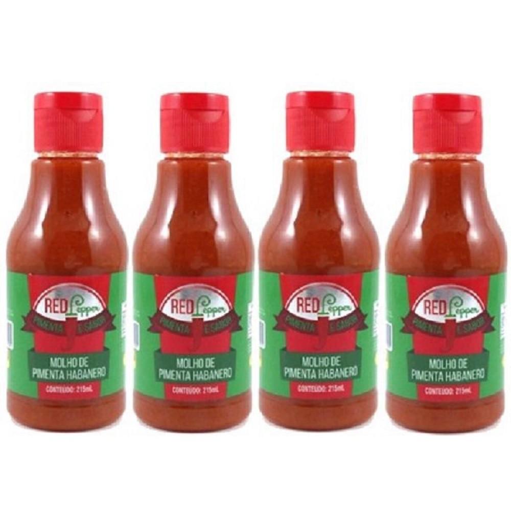 Kit Molho de Pimenta Mendez 215ml 04 Red Pepper Habanero