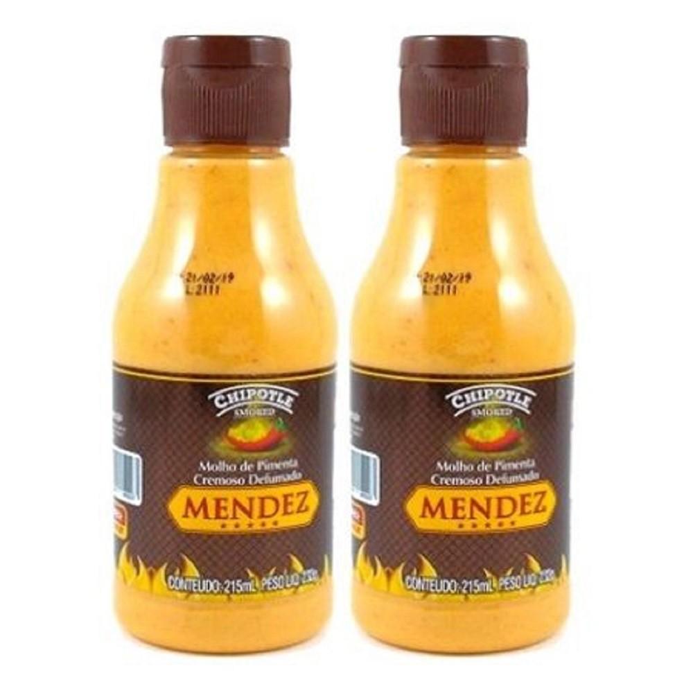 Kit Molho Pimenta Mendez 215ml 02 Cremosa Defumada Chipotle