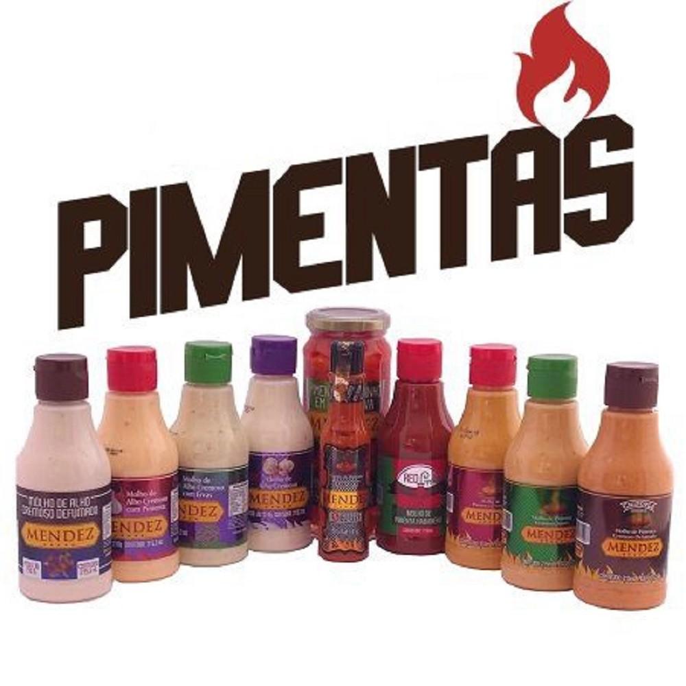 Kit Pimentas Mendez 10 unidades Sabores
