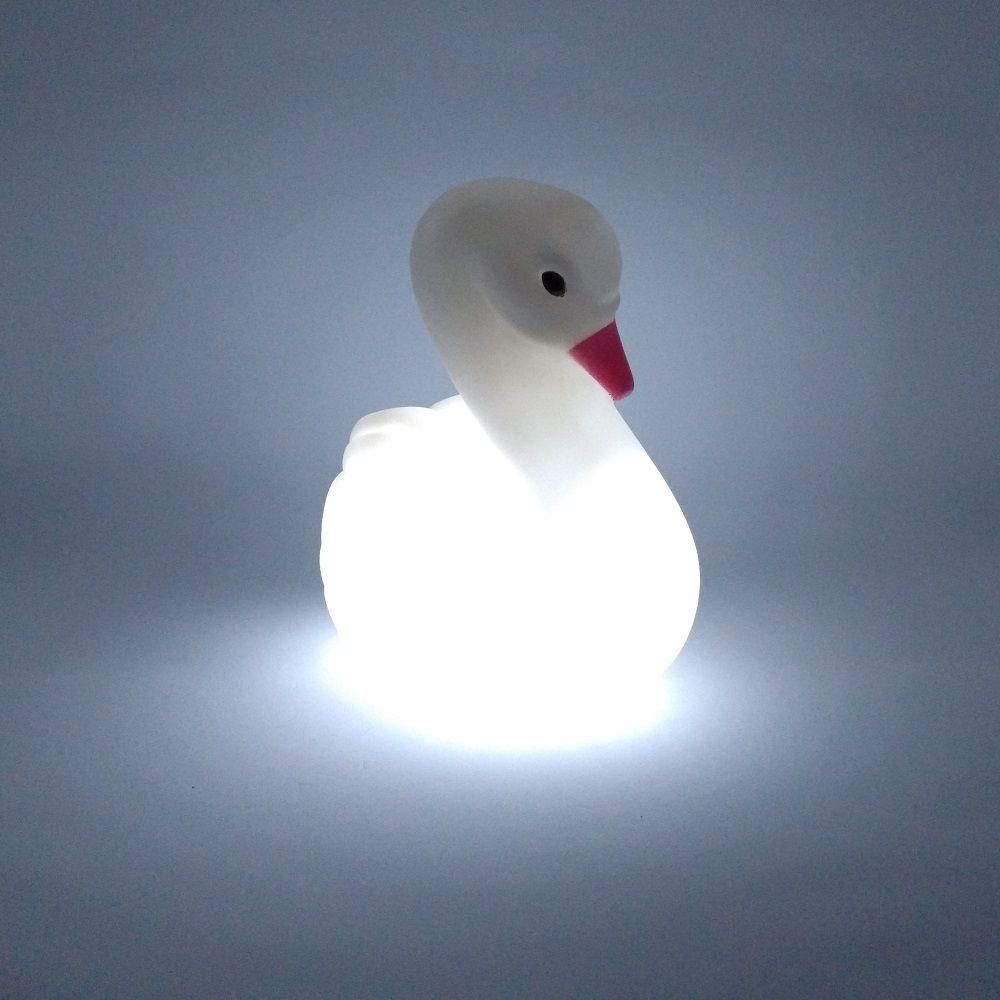 Luminária Abajur Luz Led Cisne Decoração Infantil 03 peças