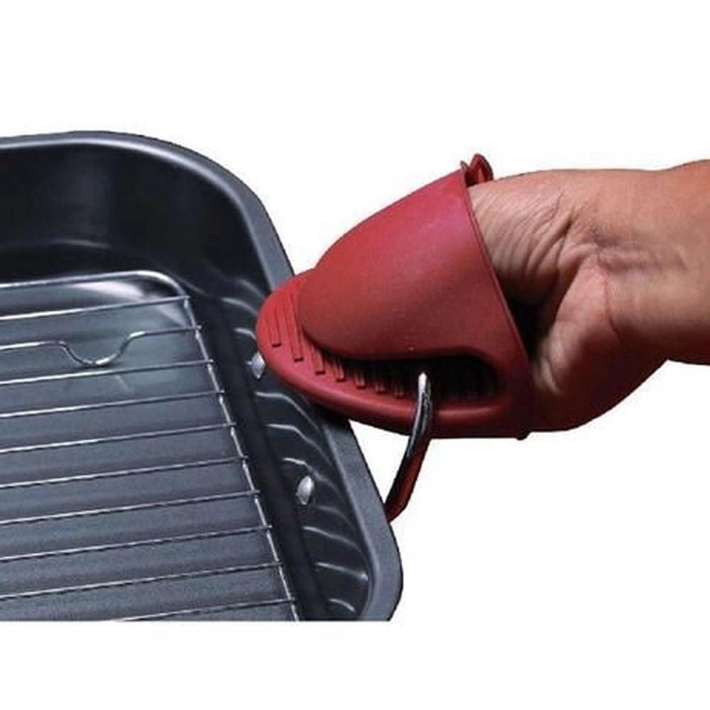 Luva de Silicone Bico de Pato Térmica Vermelha