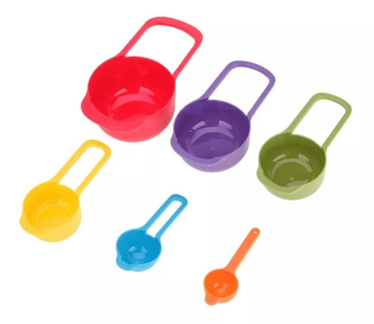 Medidores de Cozinha Xícaras e Colheres Kit 06 peças
