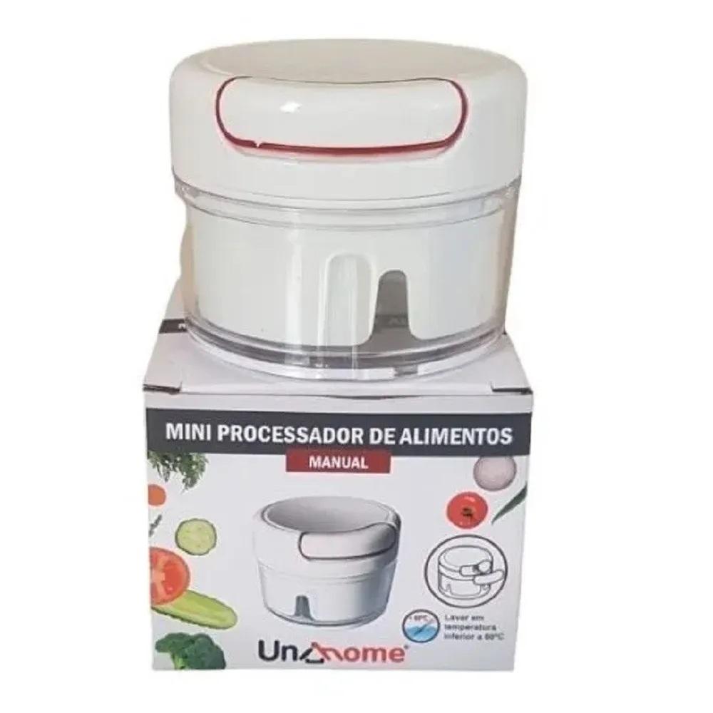 Mini Processador Triturador Fatiador de Alimentos Manual
