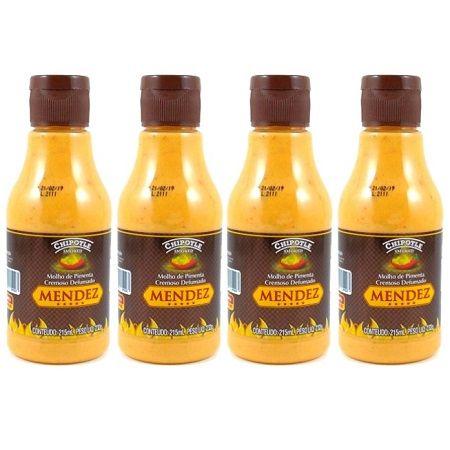 Kit Molho Pimenta Mendez 215ml 04 Cremosa Defumada Chipotle