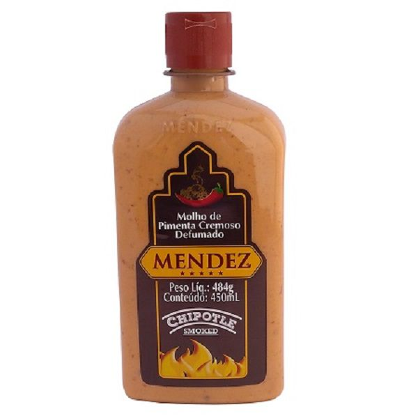 Molho de Pimenta Mendez 450ml Cremosa Defumada Chipotle