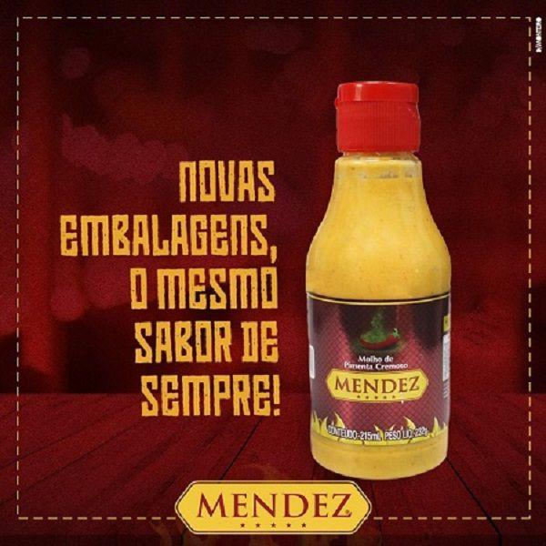 Kit Molho de Pimenta Mendez 215ml 12 Cremosa Tradicional