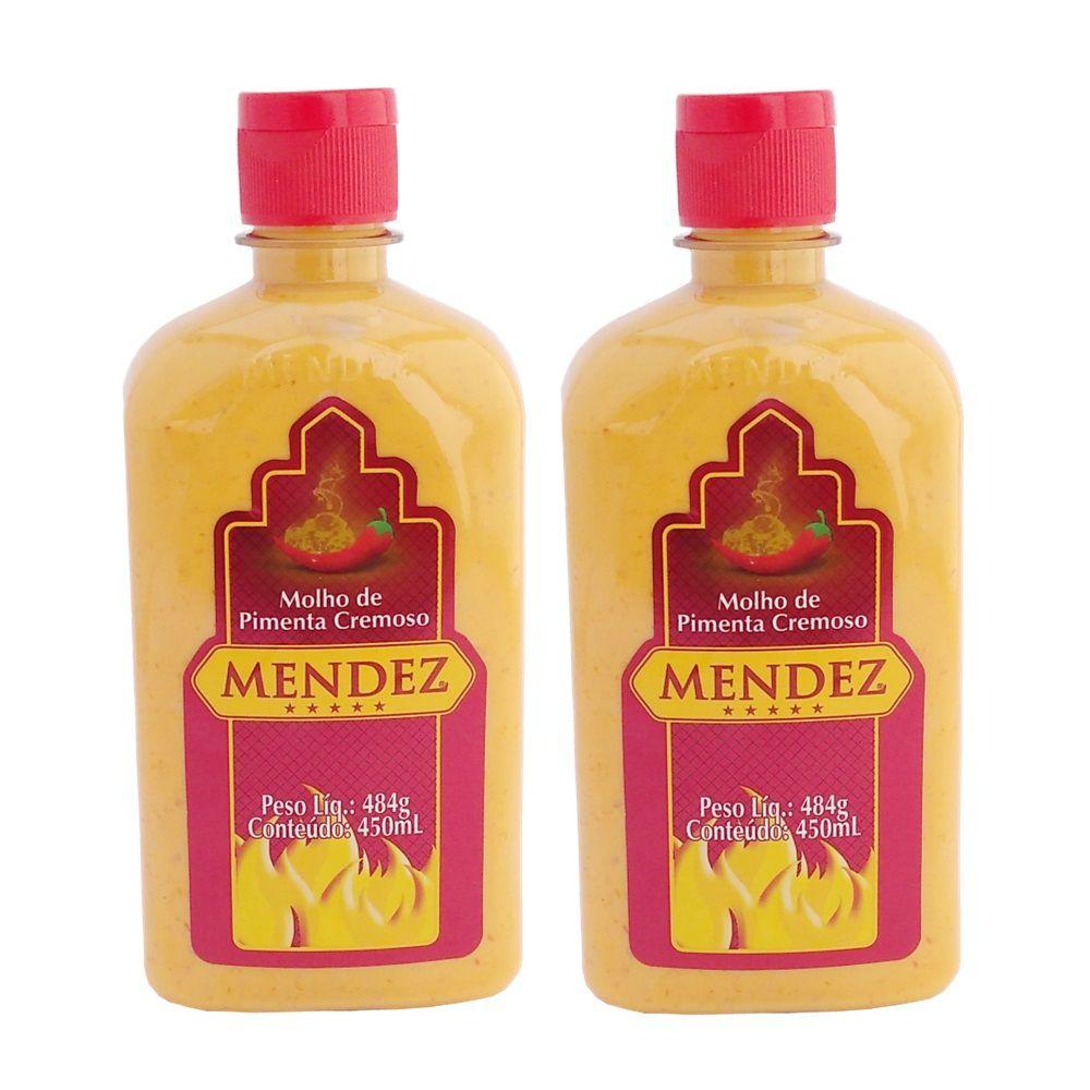 Kit Molho de Pimenta Mendez 450ml 02 Cremosa Tradicional
