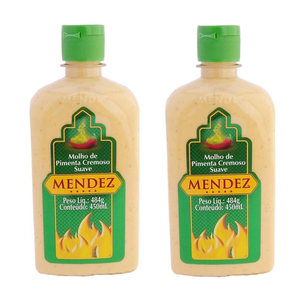 Kit Molho de Pimenta Mendez 450ml 02 Cremosa Suave