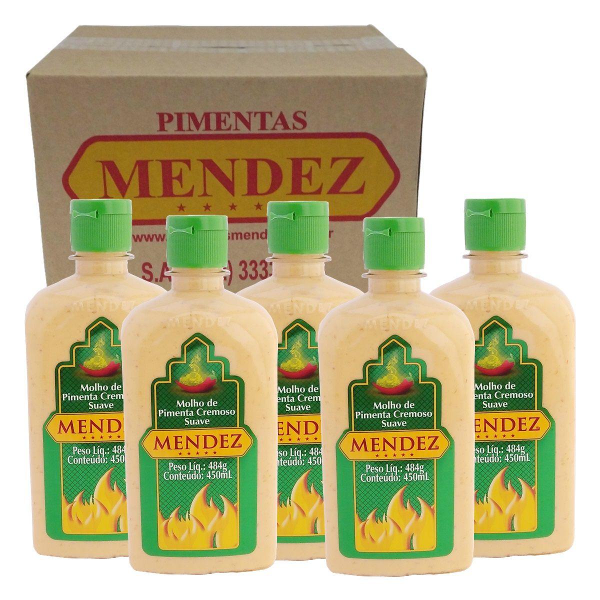 Kit Molho de Pimenta Mendez 450ml 05 Cremosa Suave