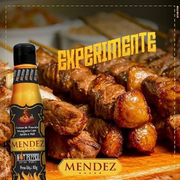 Kit Molho de Pimenta Mendez 85g 12 Hot Pepper Malagueta Mel