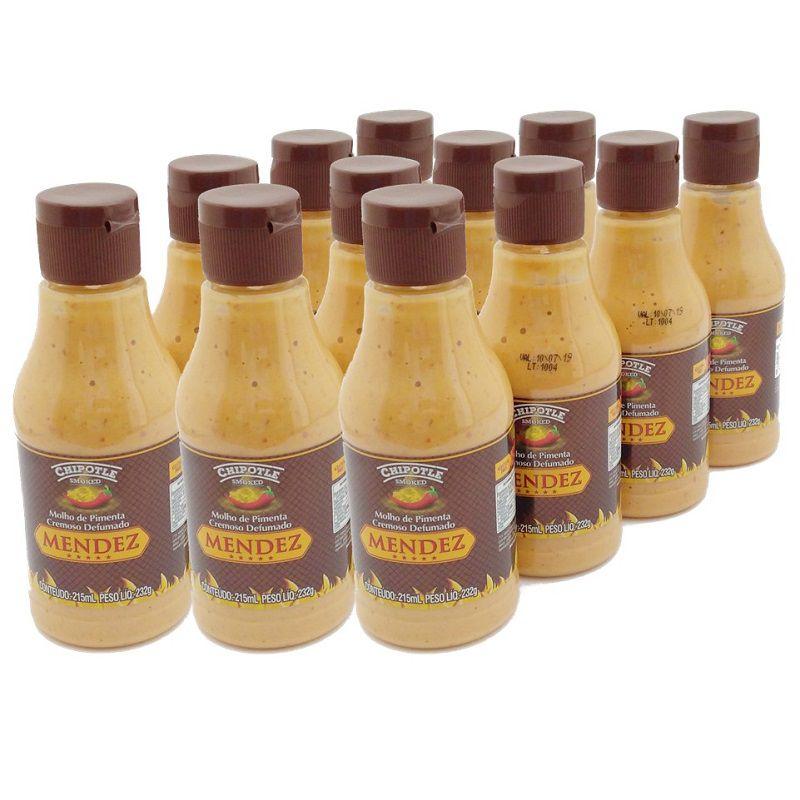 Kit Molho Pimenta Mendez 215ml 12 Cremosa Defumada Chipotle