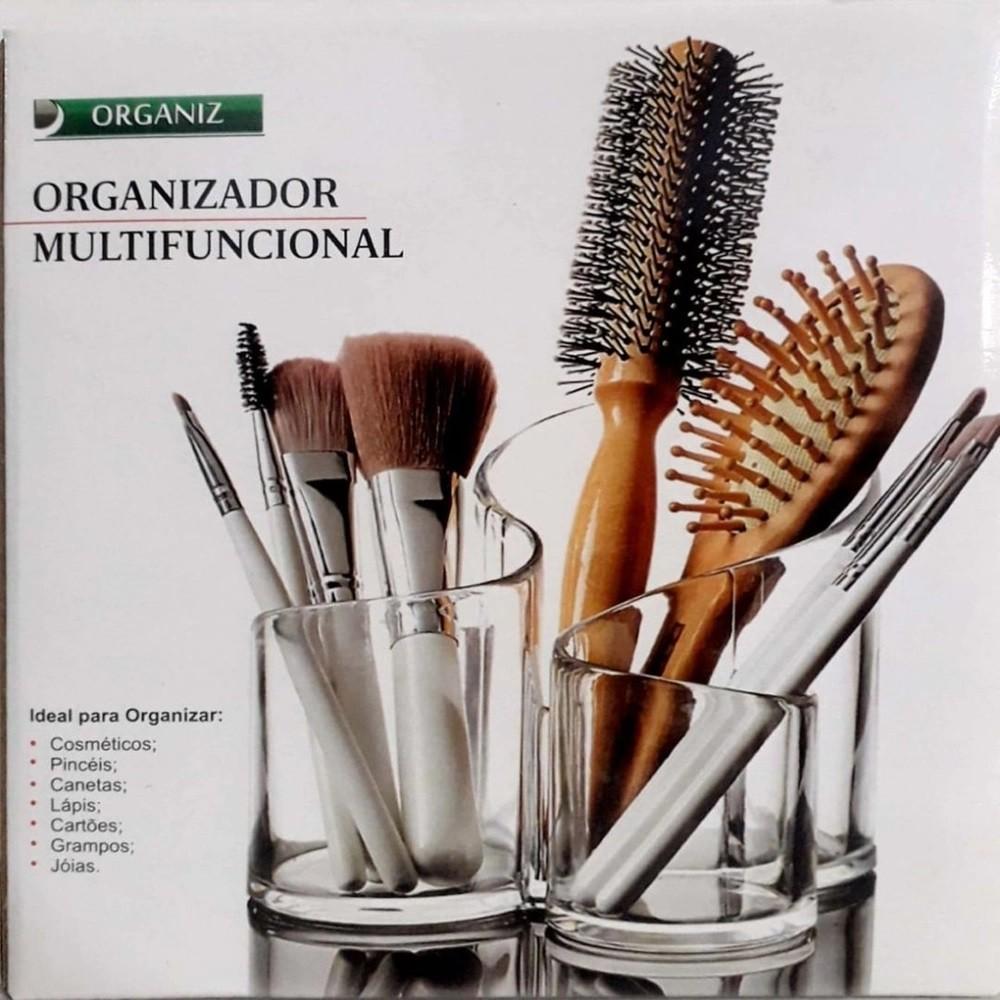 Organizador de Mesa Porta Trecos Multifuncional Maquiagem