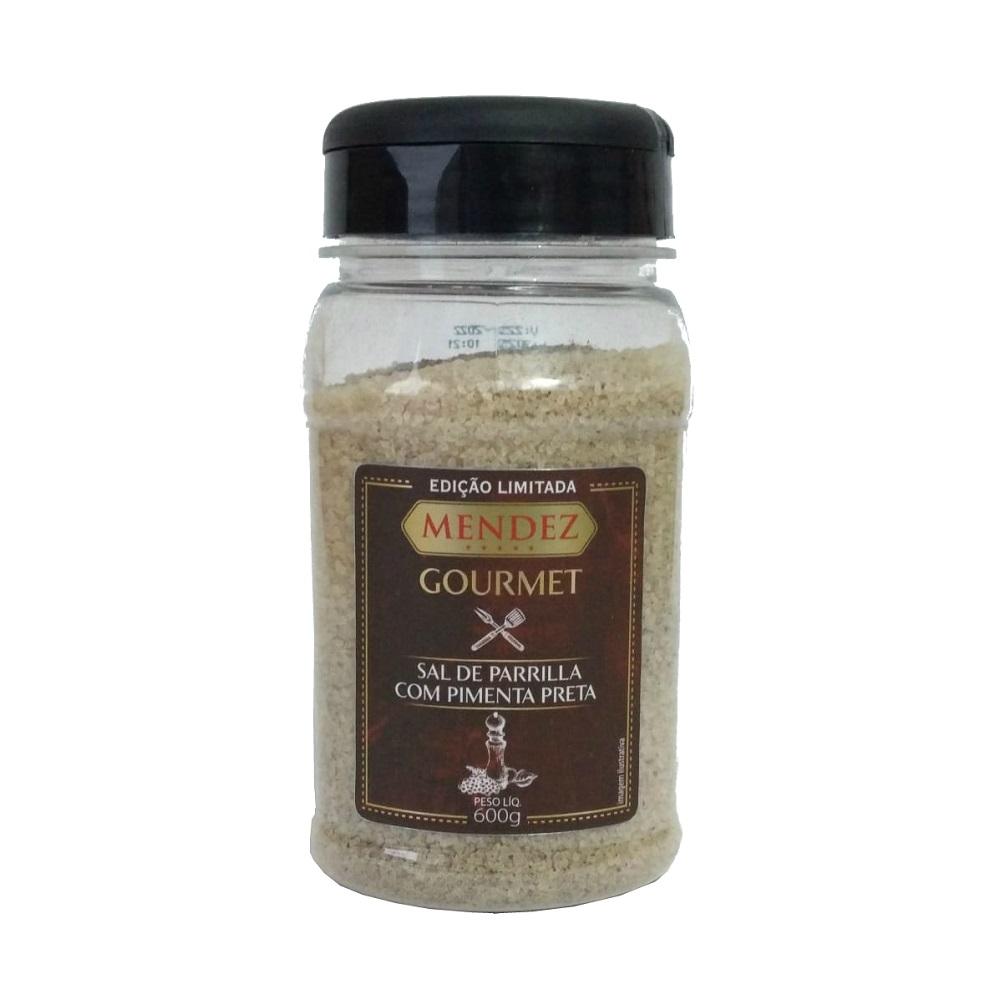 Sal de Parrilla Mendez 600g com Pimenta Preta para Churrasco