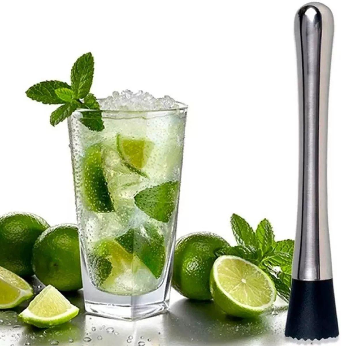Socador Macerador Inox Drinks Caipirinha Bar