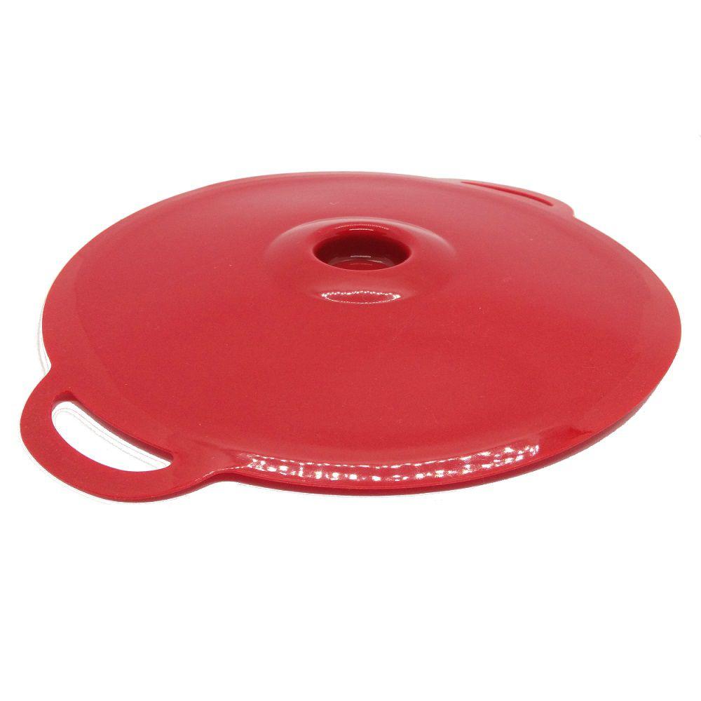 Tampa de Panela em Silicone Cozinhar 02 Tamanhos Vermelho