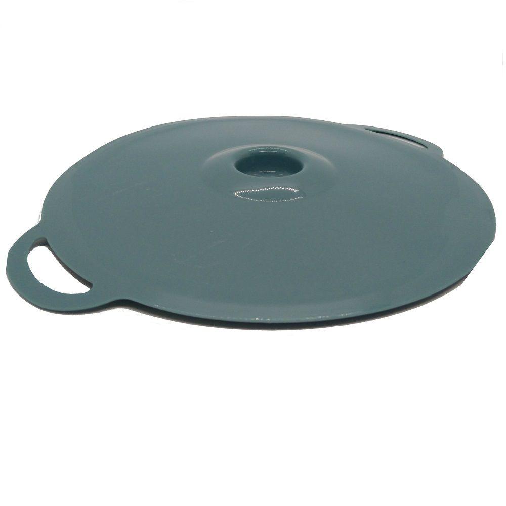 Tampa de Panela em Silicone Cozinhar 02 Tamanhos Azul