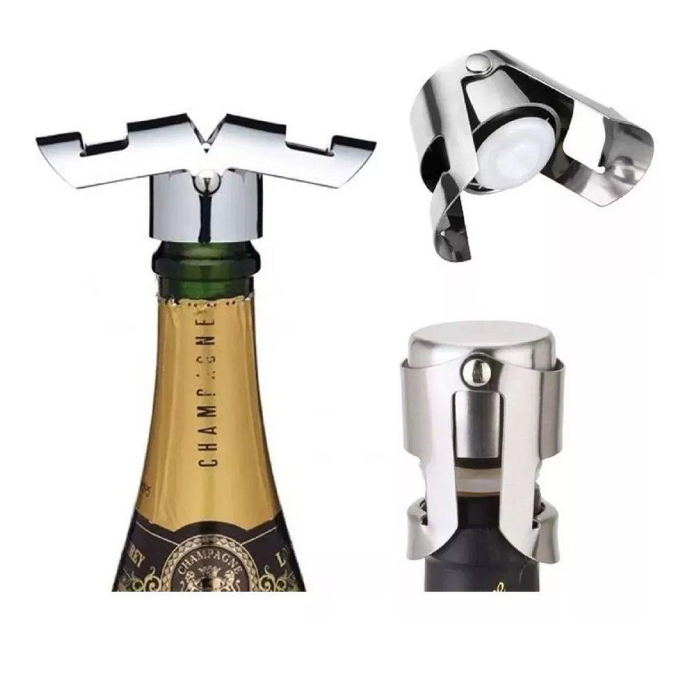 Tampa Garrafa de Champagne a Vacuo Pressão Rolha 06 peças
