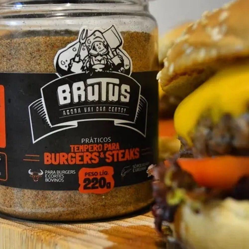 Tempero para Hamburguer Steaks Grelhar Carnes Brutus 220g