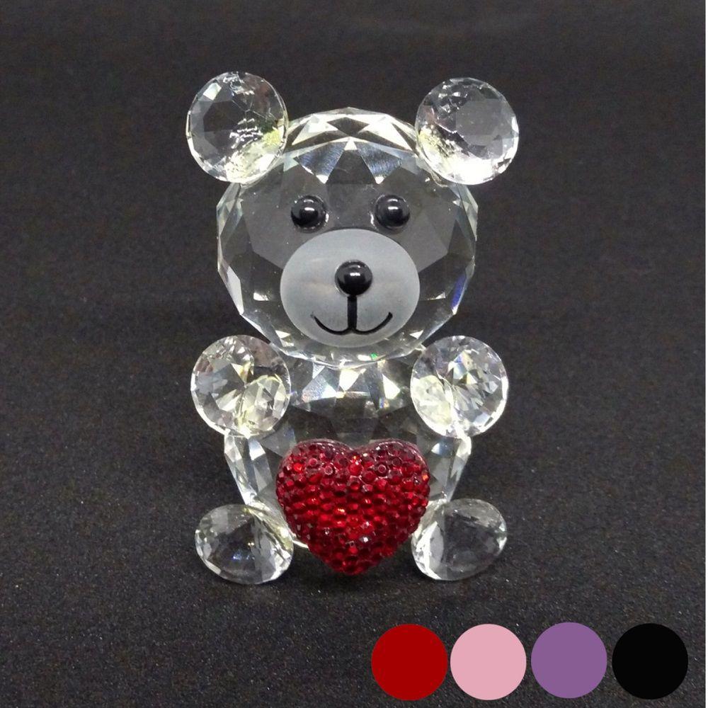 Urso de Vidro Enfeite de Mesa Ursinho Decoração