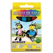 BIG GIZ DE CERA 56G 6 CORES  - 09106 - ACRILEX