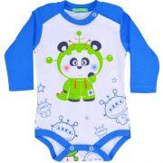 BODY MANGA LONGA - PANDINHA ASTRONAUTA - TAM P/ M/ G/ GG - CT03 - GET BABY