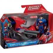 BONECO SUPERMAN E MOTO - LIGA DA JUSTIÇA - MATTEL