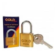CADEADO COM CHAVES 25MM - G-25 - GOLD