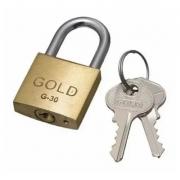 CADEADO COM CHAVES 30MM - G-30 - GOLD