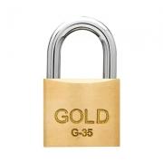 CADEADO COM CHAVES 35MM - G-35 - GOLD