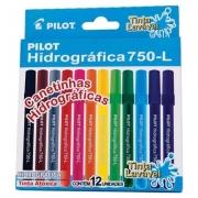 CANETA HIDROGRÁFICA 12 CORES - 750- L - PILOT