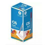 CANETA SCRIT VERMELHA 1.0 MM - CIS - CAIXA C/ 50 UNIDADES