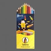 LÁPIS DE COR 12 CORES REDONDO LABRINHA - 3050 - LABRA