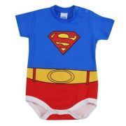 BODY MANGA CURTA FANTASIA SUPERMAN TAM P/ M/G /GGCT03 - FK