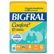 FRALDA CONFORT  PACOTE COM 8 UNIDADES - BIGFRAL - TAM G